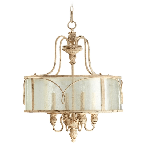 Quorum Lighting Quorum Lighting Salento Persian White Pendant Light with Drum Shade 8006-4-70