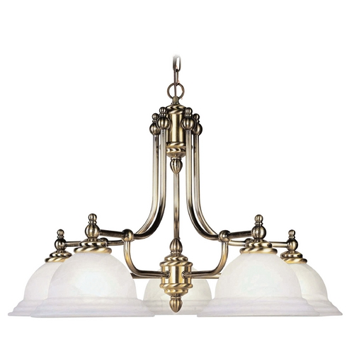 Livex Lighting Livex Lighting North Port Antique Brass Chandelier 4255-01