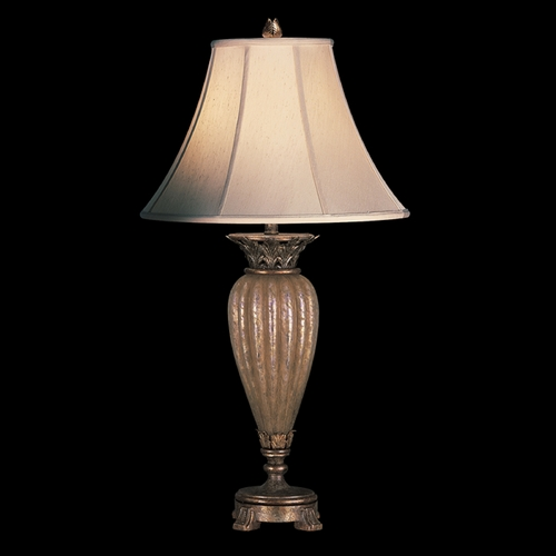 Fine Art Lamps Fine Art Lamps a Midsummer Nights Dream Cool Moonlit Patina Table Lamp with Bell Shade 145310ST