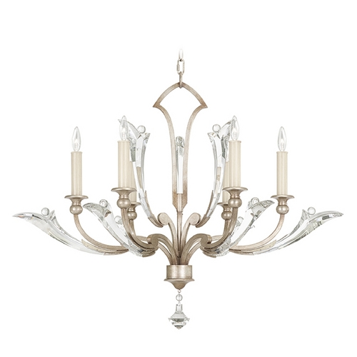 Fine Art Lamps Fine Art Lamps Ice Sculpture Silver Leaf Crystal Chandelier 855340ST
