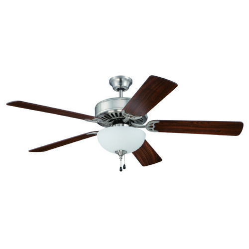 Craftmade Lighting Craftmade Pro Builder 201 Brushed Polished Nickel Ceiling Fan with Light K11102