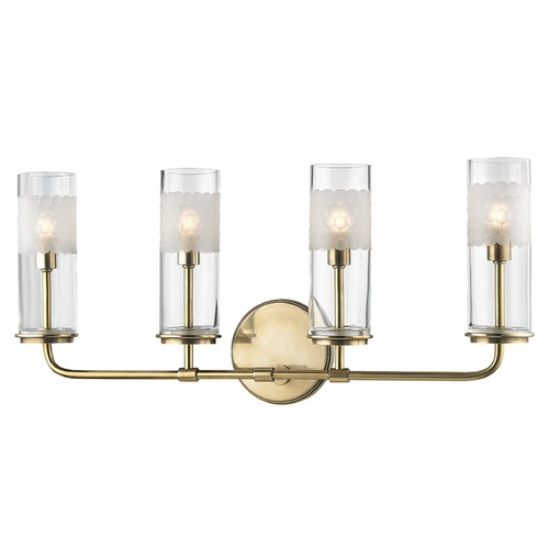 Hudson Valley Lighting Wentworth ADA 4 Light Bathroom Light - Aged Brass 3904-AGB