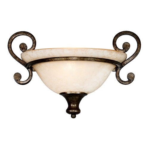 Golden Lighting Golden Lighting Heartwood Burnt Sienna Sconce 8063-WSC BUS