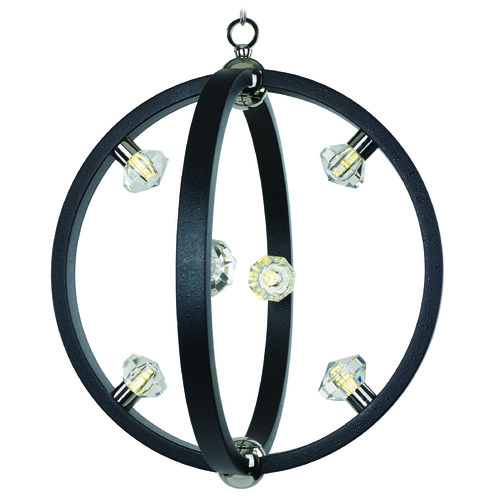 Maxim Lighting Maxim Lighting Equinox LED Textured Black / Polished Nickel LED Pendant Light 39102BCTXBPN