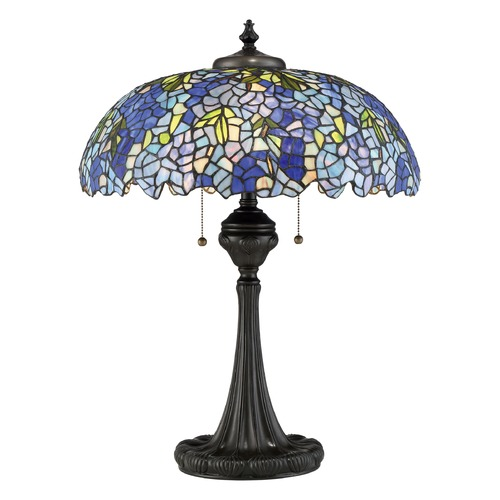 Quoizel Lighting Quoizel Lighting Tiffany Vintage Bronze Table Lamp with Bowl / Dome Shade TF2601TVB