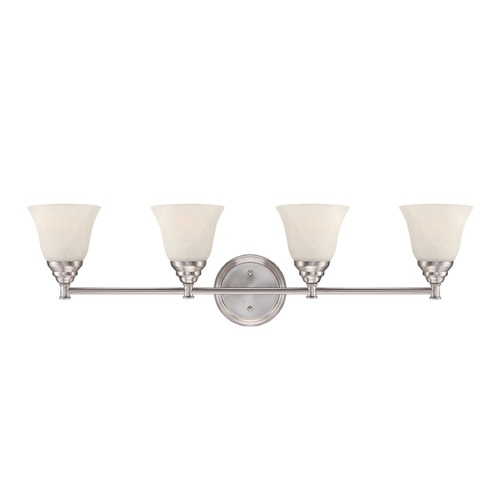 Designers Fountain Lighting Designers Fountain Kendall Satin Platinum Bathroom Light 85104-SP