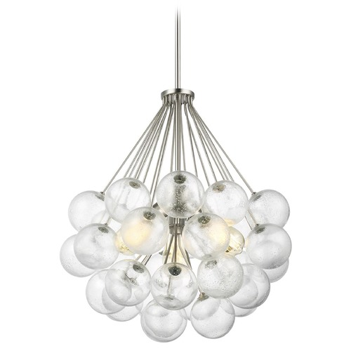 Sea Gull Lighting Sea Gull Lighting Bronzeville Brushed Nickel Pendant Light with Globe Shade 6514303-962