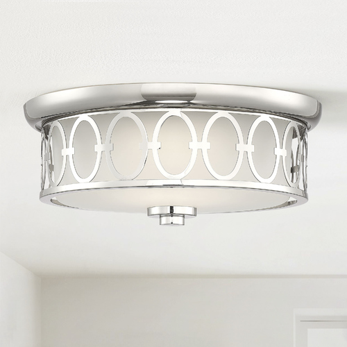 Savoy House Savoy House Sherrill Polished Nickel LED Flush Mount 3000K 1050LM 6-2390-14-109