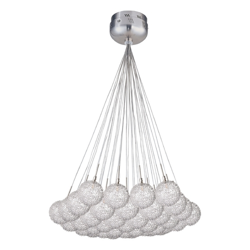 ET2 Lighting Modern Low Voltage Multi-Light Pendant Light with Clear Glass and 37-Lights E20112-78