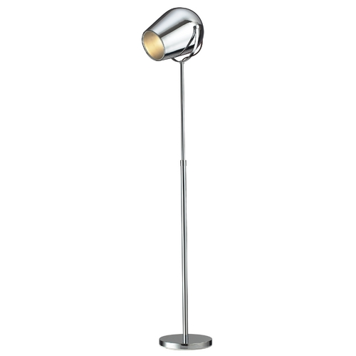 Elk Lighting Modern Floor Lamp in Chrome Finish D2190