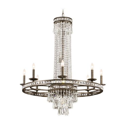 Crystorama Lighting Crystal Chandelier in English Bronze Finish 5268-EB-CL-MWP