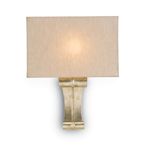 Currey and Company Lighting Modern Sconce Wall Light in Silver Granello Finish 5092