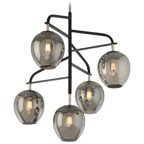Troy Lighting Troy Lighting Odyssey Carbide Black and Polished Nickel Pendant Light F4297
