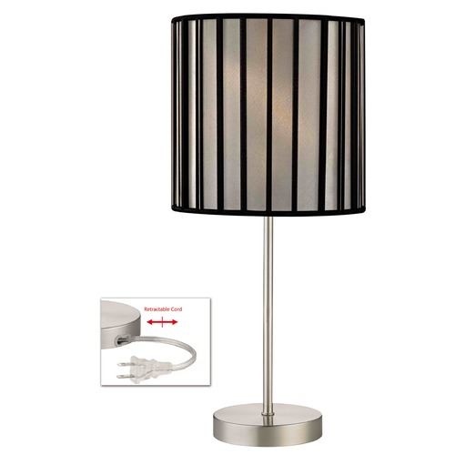 Design Classics Lighting Design Classics Satin Nickel Table Lamp with Drum Shade 1904-09 SH9546