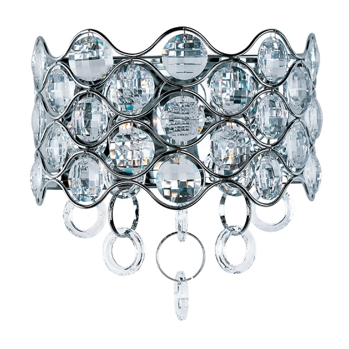 Maxim Lighting Crystal Sconce Wall Light in Polished Chrome Finish 23099BCPC