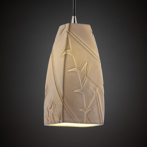 Justice Design Group Justice Design Group Limoges Collection Mini-Pendant Light POR-8816-65-BANL-NCKL
