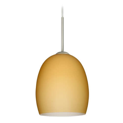 Besa Lighting Besa Lighting Lucia Satin Nickel LED Mini-Pendant Light 1JT-1697VM-LED-SN