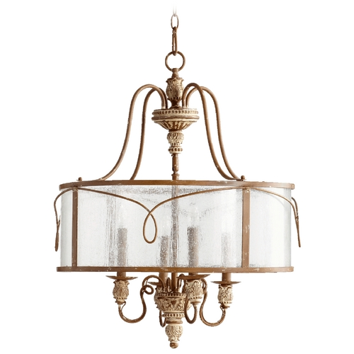 Quorum Lighting Quorum Lighting Salento French Umber Pendant Light with Drum Shade 8006-4-94