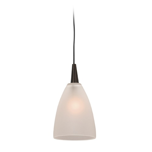 Access Lighting Access Lighting Tungsten Bronze LED Mini-Pendant Light with Bowl / Dome Shade 72119LED-BRZ/FST
