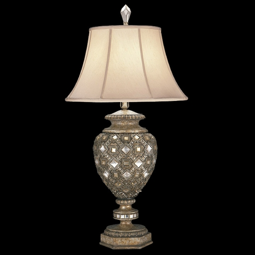 Fine Art Lamps Fine Art Lamps a Midsummer Nights Dream Cool Moonlit Patina Table Lamp with Bell Shade 174110ST
