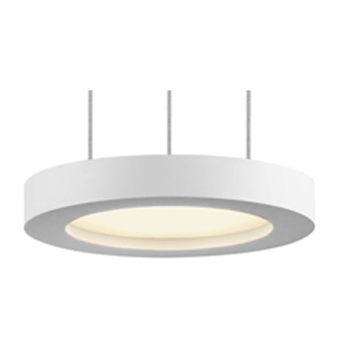 Sonneman Lighting Sonneman Chromaglo Spectrum Satin White LED Mini-Pendant Light with Drum Shade 2605.03