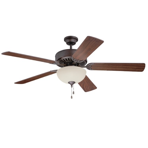 Craftmade Lighting Craftmade Pro Builder 202 Aged Bronze Textured Ceiling Fan with Light K11103