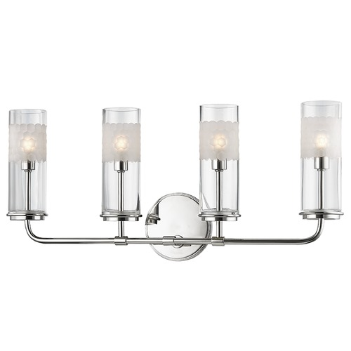 Hudson Valley Lighting Mid-Century Modern Bathroom Light Polished Nickel Wentworth by Hudson Valley 3904-PN