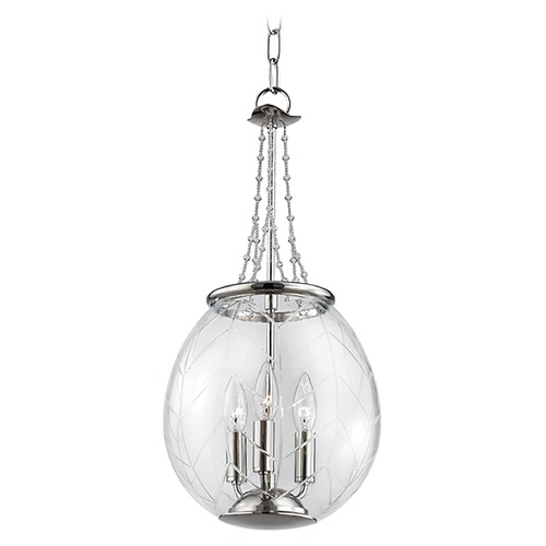 Hudson Valley Lighting Hudson Valley Lighting Pierce Polished Nickel Pendant Light with Bowl / Dome Shade 5311-PN