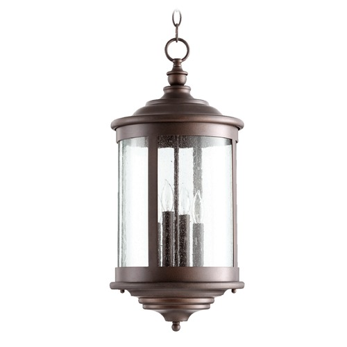Quorum Lighting Quorum Lighting Mayfair Oiled Bronze Outdoor Hanging Light 746-4-86