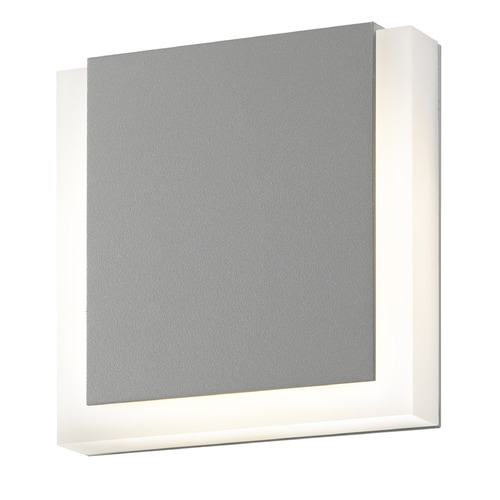 Sonneman Lighting Sonneman Sqr Textured Gray LED Outdoor Wall Light 7214.74-WL
