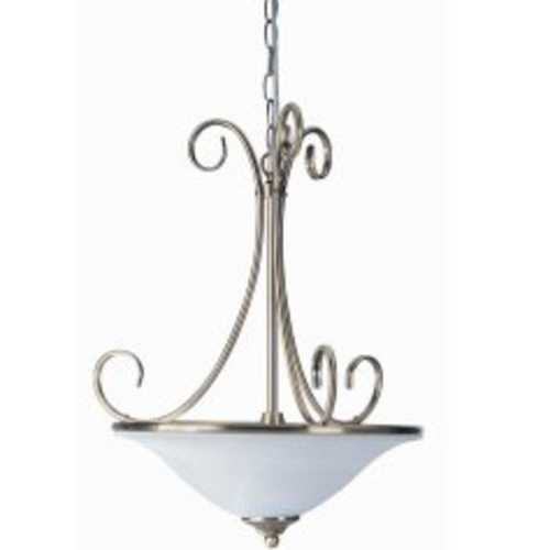 Lite Source Lighting Lite Source Lighting Renaissance Pendant Light with Conical Shade LS-14832AB/CLD