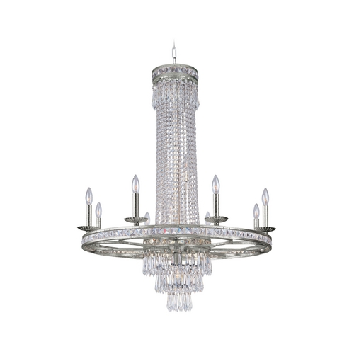 Crystorama Lighting Crystal Chandelier in Olde Silver Finish 5268-OS-CL-MWP