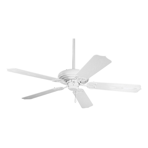 Progress Lighting Progress Ceiling Fan Without Light in White Finish P2502-30