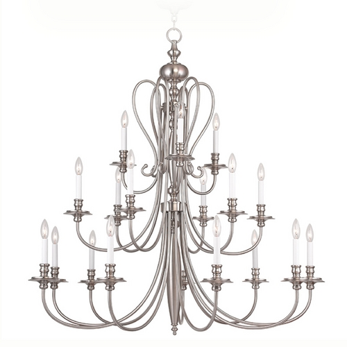 Livex Lighting Livex Lighting Caldwell Brushed Nickel Chandelier 5179-91