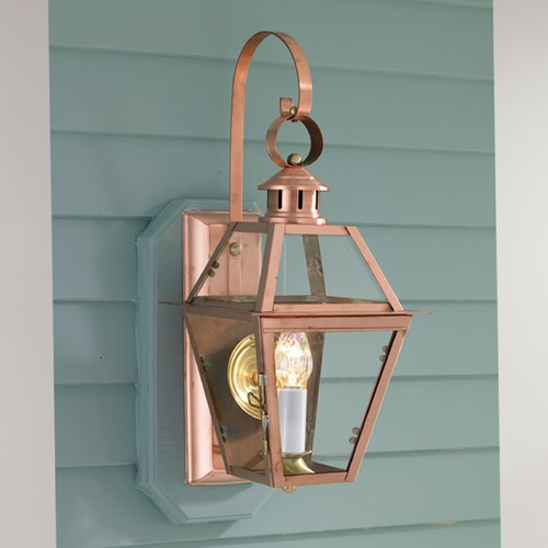 Norwell Lighting Norwell Lighting New Orleans Copper Outdoor Wall Light 2253-CO-CL