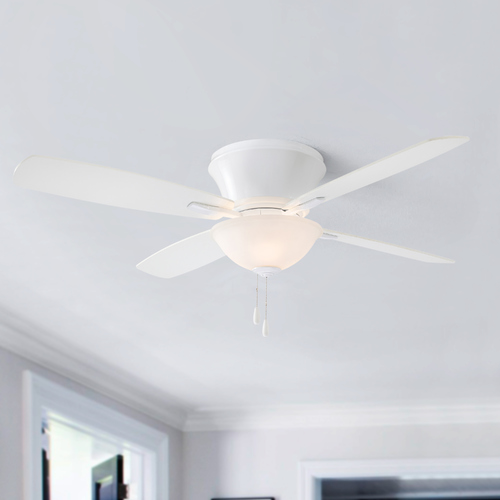 Minka Aire 52-Inch Minka Aire Mojo II White Ceiling Fan with Light F533-WH