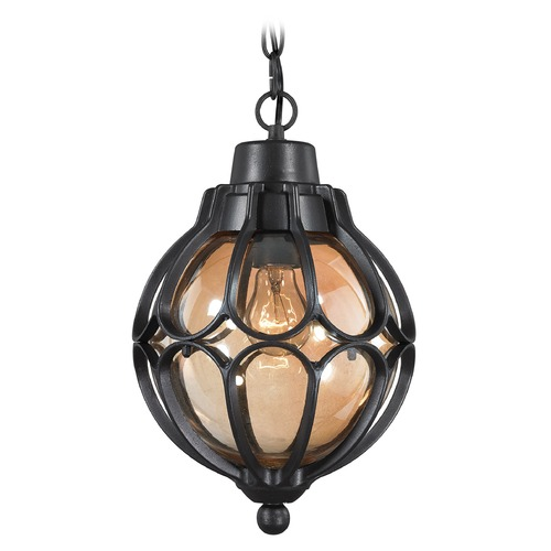 Elk Lighting Elk Lighting Madagascar Matte Black Outdoor Hanging Light 87023/1
