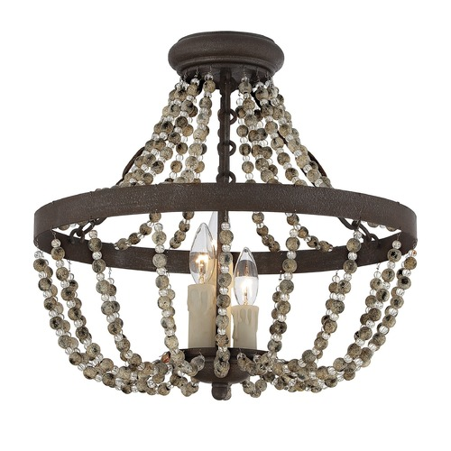 Savoy House Savoy House Fossil Stone Semi-Flushmount Light 6-7403-3-39