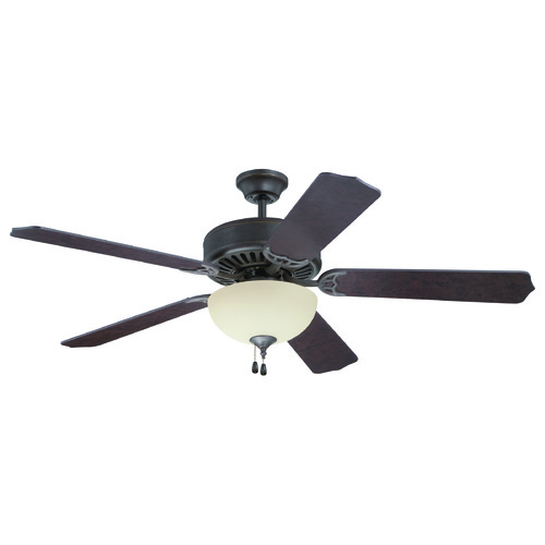 Craftmade Lighting Craftmade Pro Builder 202 Aged Bronze Textured Ceiling Fan with Light K11104