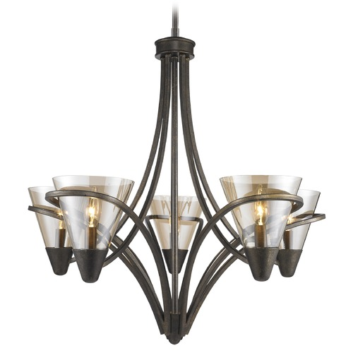Golden Lighting Golden Lighting Olympia Burnt Sienna Chandelier 1648-5 BUS