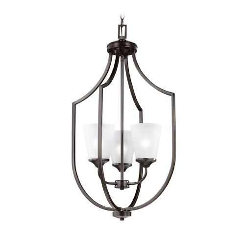 Sea Gull Lighting Sea Gull Hanford Burnt Sienna Pendant Light with Empire Shade 5224503-710