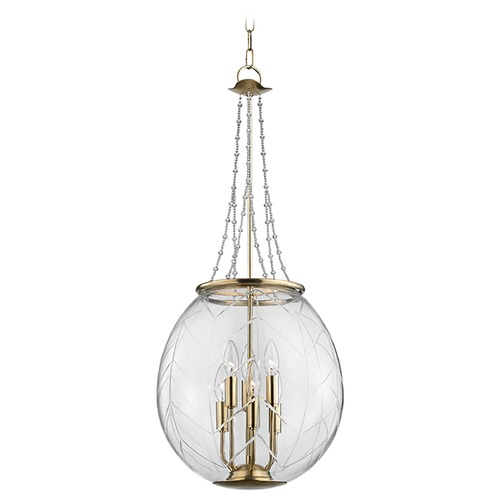 Hudson Valley Lighting Hudson Valley Lighting Pierce Aged Brass Pendant Light with Bowl / Dome Shade 5315-AGB