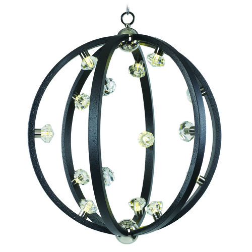 Maxim Lighting Maxim Lighting International Equinox LED Textured Black / Polished Nickel LED Pendant Light 39104BCTXBPN