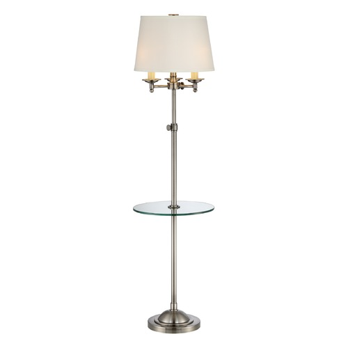 Quoizel Lighting Quoizel Lighting Vivid Millington Polished Antique Nickel Gallery Tray Lamp with Empire Shade VVMN9258PA