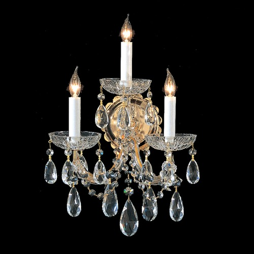 Crystorama Lighting Crystorama Lighting Maria Theresa Gold Sconce 4403-GD-CL-SAQ