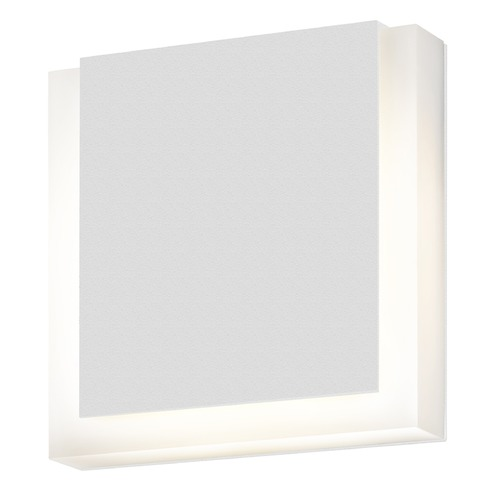 Sonneman Lighting Sonneman Sqr Textured White LED Outdoor Wall Light 7214.98-WL