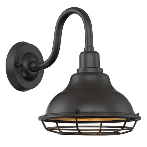 Satco Lighting Satco Lighting Newbridge Dark Bronze / Gold Barn Light 60/7011
