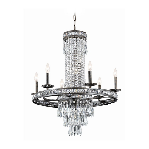 Crystorama Lighting Crystal Chandelier in English Bronze Finish 5266-EB-CL-MWP