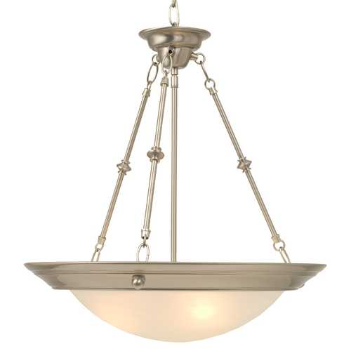 Design Classics Lighting Hanging Pendant with Alabaster-Glass Bowl 20037-09