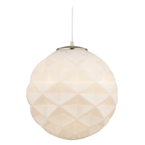 Design Classics Lighting Modern Hanging Globe Pendant Light with White Textured Glass 119-09